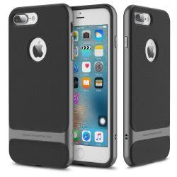 Rock iPhone 7 Plus Royce Series hátlap, tok, acél ezüst