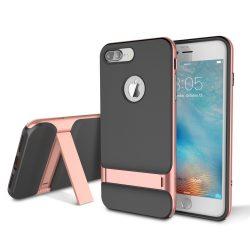 Rock iPhone 7 Plus Royce with kickstand series hátlap, tok, rozé arany