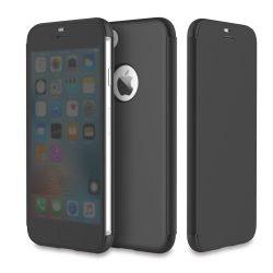 Rock iPhone 7 Plus DR.V Series oldalra nyíló tok, flip tok,, fekete