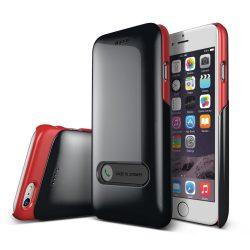 VRS Design (VERUS) iPhone 6 Slim Hard Slide hátlap, tok, metál fekete és piros