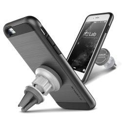 VRS Design (VERUS) iPhone 6S Plus / 6 Plus Verge Magnetic Flat tok és mágneses autós telefon tartó, acélszürke