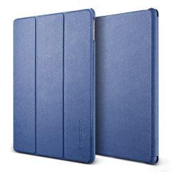 VRS Design (VERUS) iPad Pro 9,7 Saffiano K1 mágneses oldalra nyíló bőr tok, sötétkék
