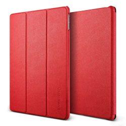 VRS Design (VERUS) iPad Pro 9,7 Saffiano K1 mágneses oldalra nyíló bőr tok, piros