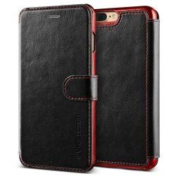 VRS Design (VERUS) iPhone 7 Plus Dandy Layered oldalra nyíló bőr tok, fekete