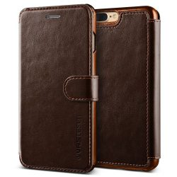 VRS Design (VERUS) iPhone 7 Plus Dandy Layered oldalra nyíló bőr tok, barna