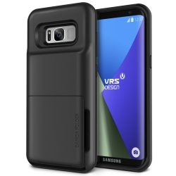 VRS Design (VERUS) Samsung Galaxy S8 Damda Folder hátlap, tok, sötét ezüst