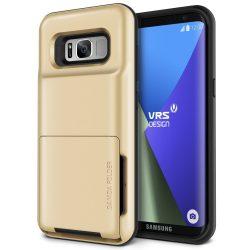 VRS Design (VERUS) Samsung Galaxy S8 Damda Folder hátlap, tok, arany