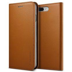 VRS Design (VERUS) iPhone 7 Plus/8 Plus New Genuine Leather Diary oldalra nyíló tok, flip tok,, barna