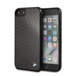BMW iPhone 6/7/8 Signature Real Carbon Fiber hátlap, tok, fekete