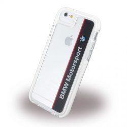BMW iPhone 6/6S Motorsport Shockproof Hard Vertical Logo hátlap, tok, átlátszó