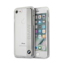 BMW iPhone 6/7/8 Engraved Aluminum Plate Transparent hátlap, tok, ezüst