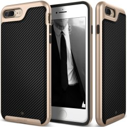 Caseology iPhone 7 (5.5'') Plus Envoy Series Carbon hátlap, tok, karbon fekete