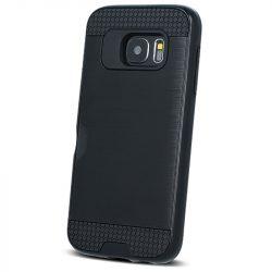 Defender Card Case Samsung Galaxy A6 Plus (2018) ütésálló hátlap, tok kártyatartóval, fekete