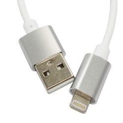 KABU Magnetic iPhone 5/6/6S/6 Plus/7/7 Plus lightning töltőkábel 1,15m, fehér-ezüst