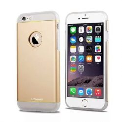 Apple iPhone 6 tok, TPU + Aluminium hátlap, USAMS Noble Series, arany