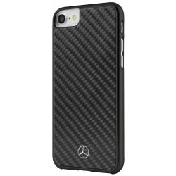 Mercedes-Benz iPhone 6 Plus/7 Plus/8 Plus Dynamic  Real Carbon Fiber hátlap, tok, fekete