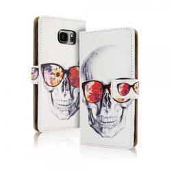 Wallet Desing Skull iPhone 7 Plus/8 Plus oldalra nyíló tok, flip tok, koponya mintás