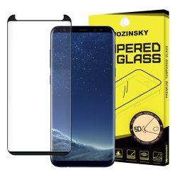 Wozinsky Samsung Galaxy S8 Plus PRO+ Glass Screen 5D Full Glue teljes kijelzős edzett üvegfólia (tempered glass) 9H keménységű, fekete