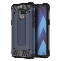 Samsung Galaxy A8 (2018) A530 Hybrid Armor ütésálló hátlap, tok, kék