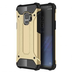 Samsung Galaxy S9 Hybrid Armor ütésálló hátlap, tok, arany
