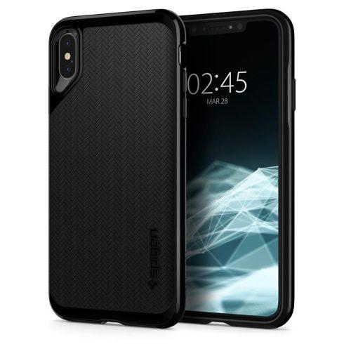 Spigen iPhone Xs Max Neo Hybrid hátlap, tok, jet black