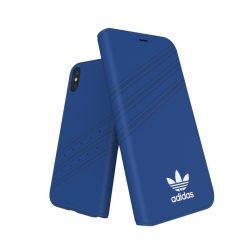 Adidas Originals Gazelle Booklet iPhone X/Xs oldalra nyíló tok, kék-fehér