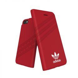 Adidas Originals Gazelle Booklet iPhone 6/7/8 oldalra nyíló tok, piros-fehér