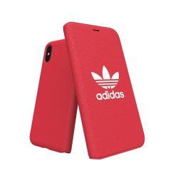 Adidas Originals Adicolor Booklet iPhone X/Xs oldalra nyíló tok, piros