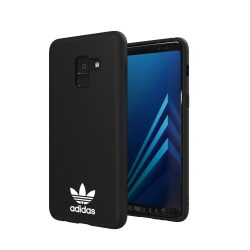 Adidas NEW BASICS for Samsung Galaxy A8 Plus 2018 hátlap, tok, fekete