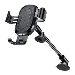 Baseus Heukji Gravity Car Mount univerzális autós telefon tartó és Qi vezeték nélküli töltő, fekete