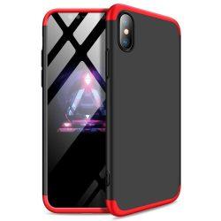 Full Body Case 360 iPhone Xs Max, elő-hátlap tok, fekete-piros