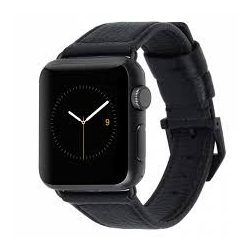 Case Mate watch  black leather 42mm