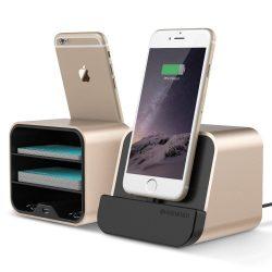 VRS Design (VERUS) New i-Depot asztali dokkoló, hálózati töltő iPhone SE/ 6/ 7/ 8/ X/ iPad, MFI, iOS kompatibilis, arany