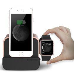 VRS Design (VERUS) New i-Depot asztali dokkoló, hálózati töltő iPhone SE/ 6/ 7/ 8/ X/ iPad, MFI, iOS kompatibilis, rozé arany