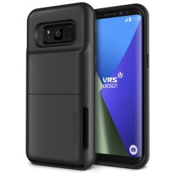 VRS Design (VERUS) Samsung Galaxy S8 Plus Damda Folder hátlap, tok, sötétezüst
