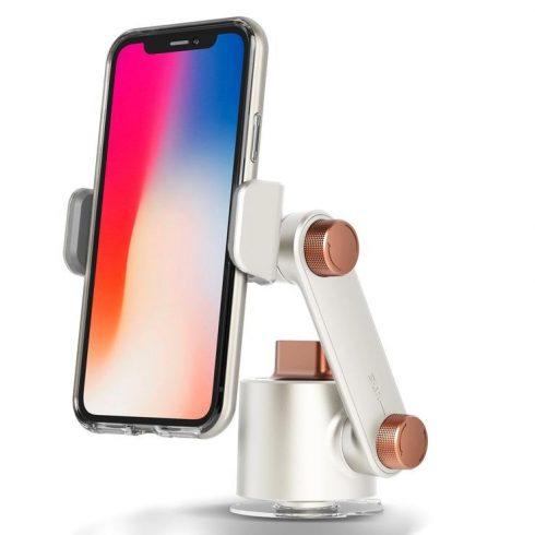 """VRS Design (VERUS) Universal Mount 360 fokban forgatható univerzális telefontartó (4,7- 6,5"""" -ig), fehér"""