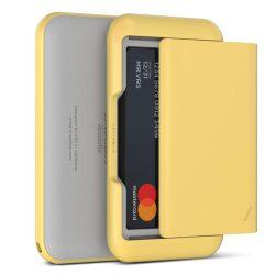 VRS Design (VERUS) D. Wallet Glide Type Plain oldalra nyitható kártyatartó (max 6 kártya), szürke-sárga