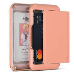 VRS Design (VERUS) D. Wallet Glide Type Plain oldalra nyitható kártyatartó (max 6 kártya), átlátszó-barack