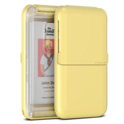 VRS Design (VERUS) D. Wallet Folder Type Plain lefele nyitható kártyatartó (max 6 kártya), átlátszó-sárga
