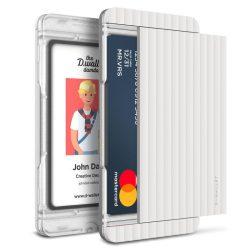 VRS Design (VERUS) D. Wallet Slim Glide Type Stripe oldalra nyitható kártyatartó (max 2 kártya), fehér
