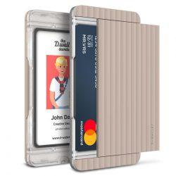 VRS Design (VERUS) D. Wallet Slim Glide Type Stripe oldalra nyitható kártyatartó (max 2 kártya), rózsaszín
