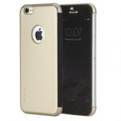 Rock iPhone 6 Plus/6S Plus DR.V Series without APP oldalra nyíló tok, flip tok,, arany
