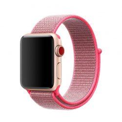 Apple Watch nylon 40mm óraszíj tépőzáras rögzítéssel, piros