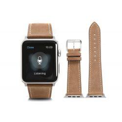 Apple Watch borjú bőr 44mm óraszíj, világos barna