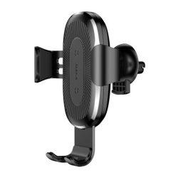 Baseus Gravity Car Air Vent Mount autós telefontartó és QI indukciós vezetéknélküli töltő, fekete