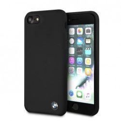 BMW iPhone 6 Plus/7 Plus/8 Plus Signature Silicone hátlap, tok, fekete