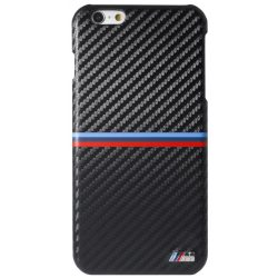 BMW iPhone 6 Plus/6S Plus Hard Carbon Inspiration Stripe Horizontal hátlap, tok, fekete