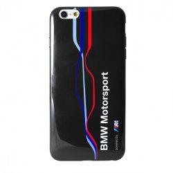 BMW iPhone 6 Plus/6S Plus Motorsport Raceway Twisted Tricolor Stripe hátlap, tok, kék