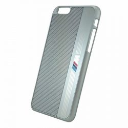 BMW iPhone 6/6S M Sport Hard Aluminium Stripe hátlap, tok, ezüst