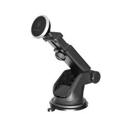 Baseus Car Mount Magnetic mágneses teleszkópos autós telefontartó szélvédőre, ezüst